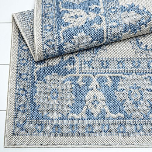 Home Dynamix Nicole Miller Patio Country Ayana Indoor/Outdoor Area Rug 7'9''x10'2'', Traditional Gray/Blue by Home Dynamix (Image #4)