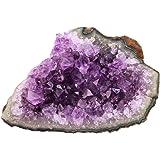 Shanxing Cristallo di roccia naturale, esemplare, per pratica di guarigione Reiki, gemma energetica, Pietra, 1-Amethyst(approx 45-100 gram)