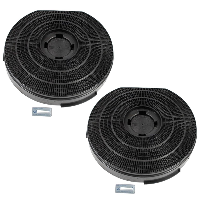Genuine IGNIS akf420Dunstabzugshaube anthrazit Carbon rund Vent Filter (2Stück Filter, 255mm x 55mm)