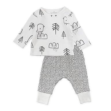 4689959e2 Amazon.com  Mac   Moon Baby Boy or Baby Girl 2-Piece Long Sleeve Top ...