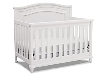 Simmons Kids Belmont All In One Convertible Crib And Rail Kit, Bianca
