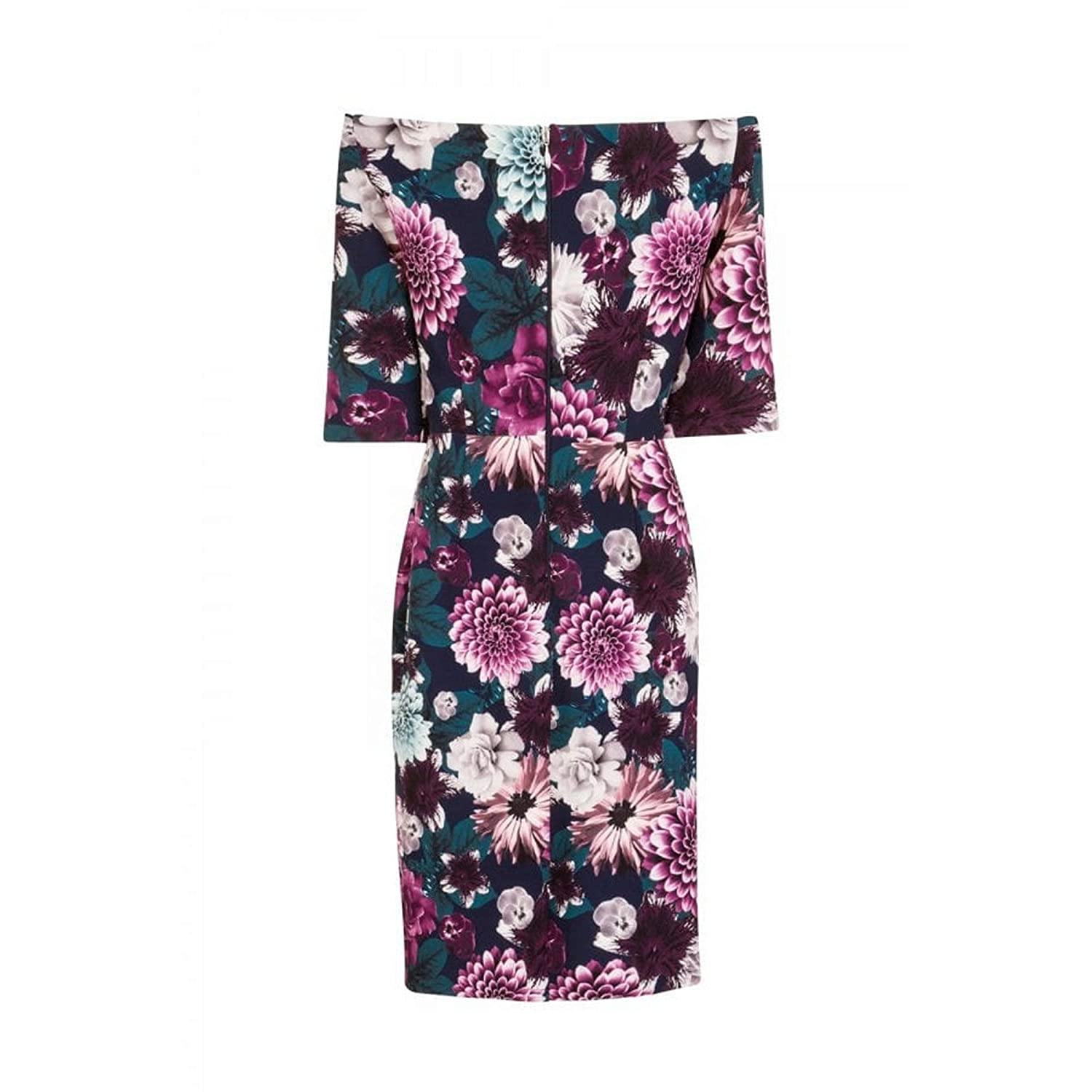 c8ffc910a9988f Paper Dolls Womens/Ladies Nelson Floral Bardot Dress (14 UK) (Floral):  Amazon.co.uk: Clothing