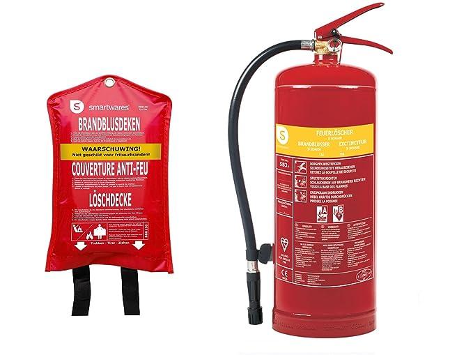 Juego de extintores de Espuma de 3 litros de Clase de Fuego AB + ...