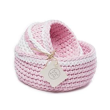 Callyna ® - Lot de 3 paniers corbeilles rangement chambre bébé ...