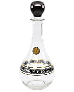 artdecor griego clave patrón, 30 oz Lotus antiguo botella de whisky decantador de