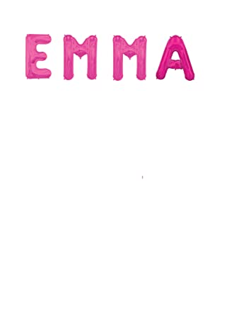 "Amazon.Com: Jumbo 34"" Letter Name Balloons ""Emma"" Birthday"