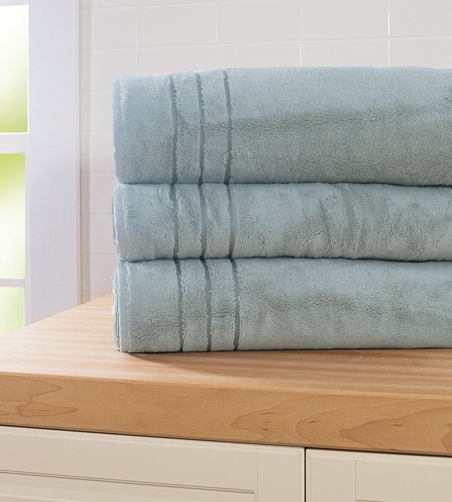 Cariloha Bamboo Bath Sheet by Highly Absorbent - Odor Resistant - Moisture Wicking (Tahitian Breeze)