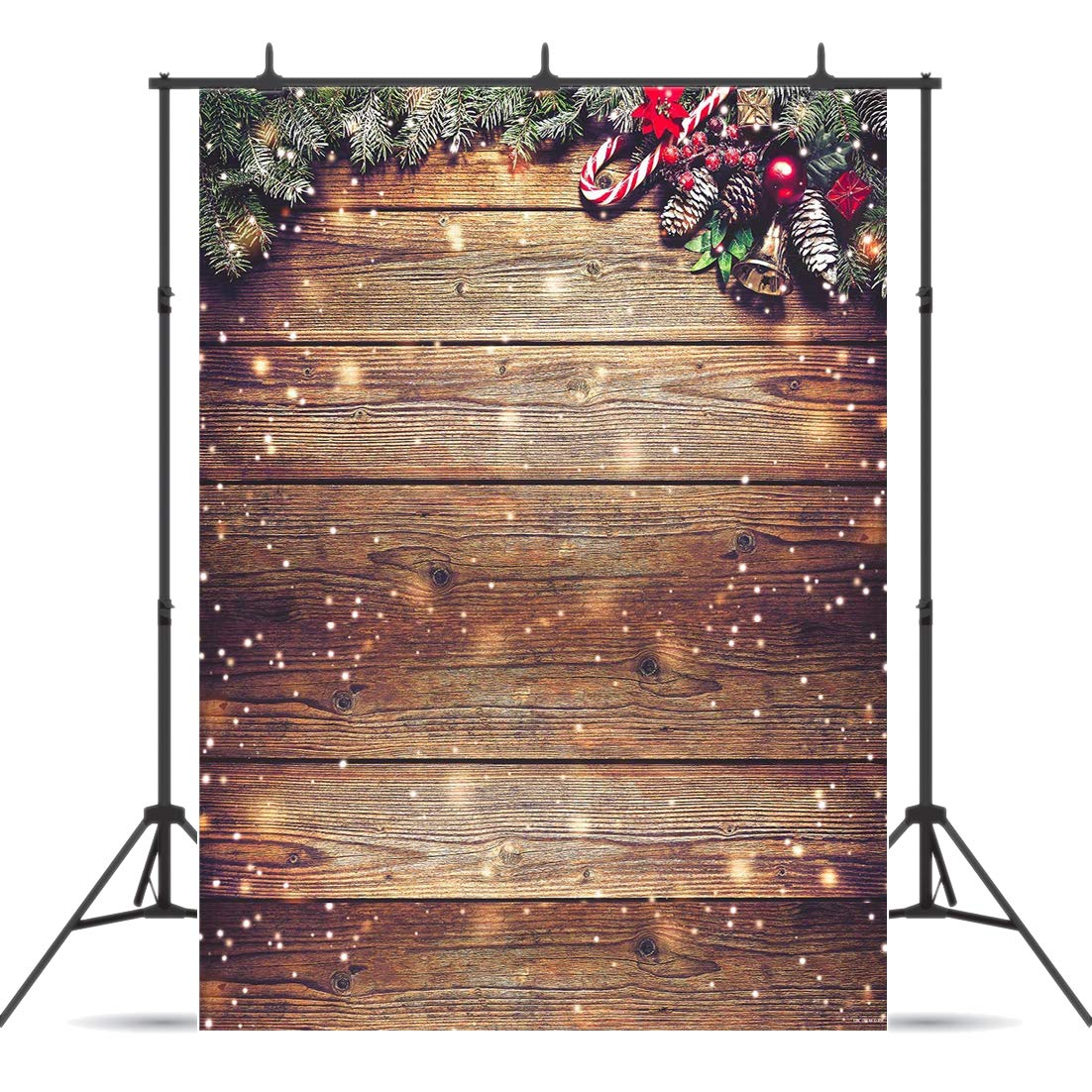 Dudaacvt 10x10ft Beautiful Christmas Theme Pictorial Cloth Customized Photography Backdrop Background Studio Prop D0461010