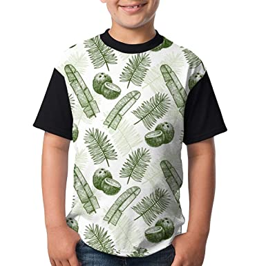 078c28311 Amazon.com: Coconuts-and-palm-leaves Teenager Novelty Humor Funny T Shirt  For Boy/Girl Fashion Short Sleeve Shirt: Clothing