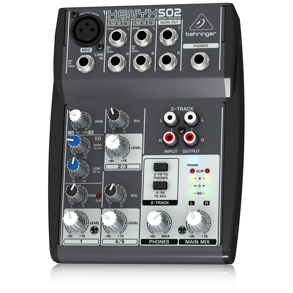 Behringer Xenyx 502 Premium 5 Input 2 Bus Mixer With Protection Circuit Board 1channel Speaker Neweggcom Mic Preamp And British Eq Musical Instruments