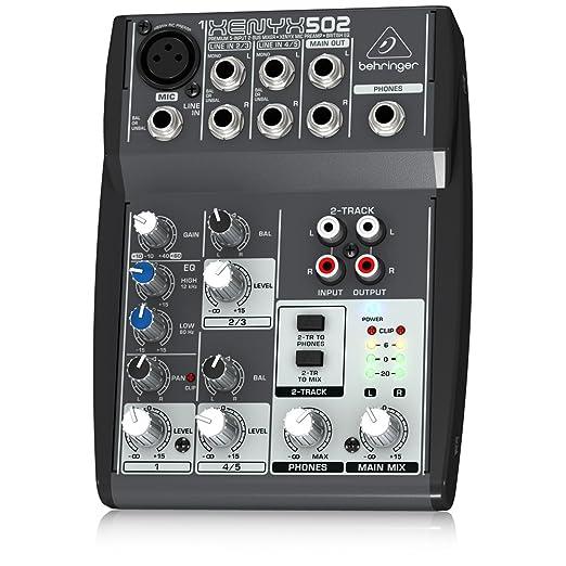 47 opinioni per Behringer XENYX 502 Mixer Audio per DJ, live, studio, karaoke