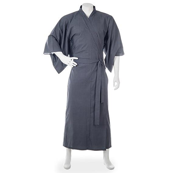 c3052378b9 Mens Black Cotton Japanese Yukata  Amazon.co.uk  Clothing