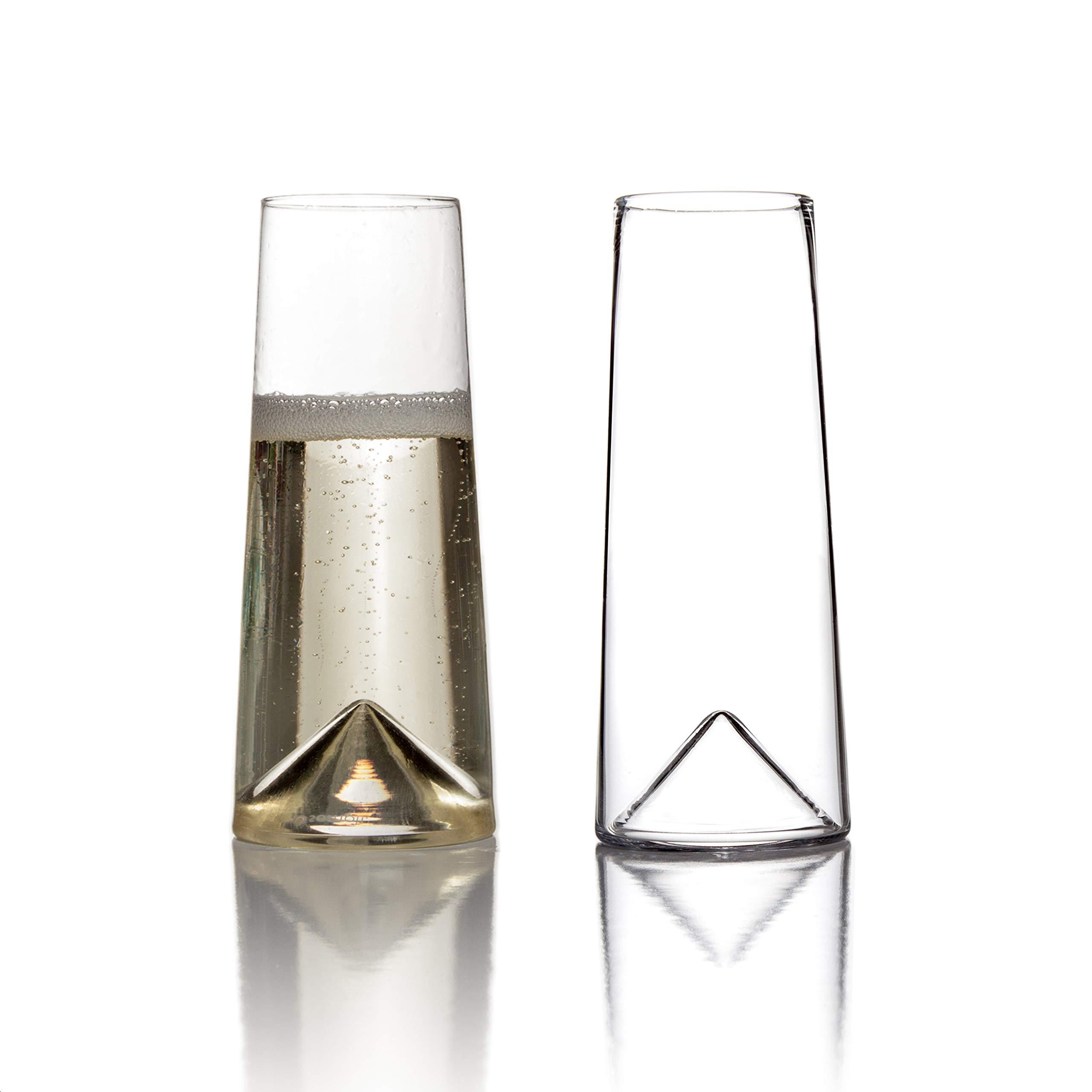 Sempli Monti-Flute, Clear Champagne Glasses Set of 2 in Gift-box