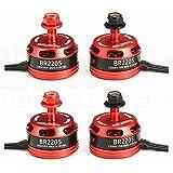 4pcs RacerStar BR2205 2205 2300kV 2-4S Brushless Motor (2)CW (2)CCW for FPV Racing Drones