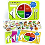 Excellerations USDAMAG My Healthy Plate 12x18 inch Chart, Food and Nutrition Magnetic Play Set - 53 Pieces, Educational…
