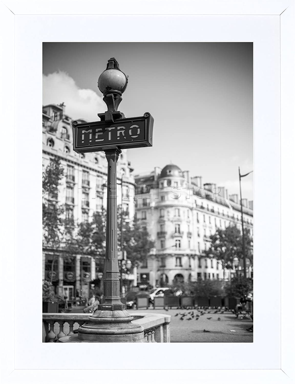 Amazon.com: 9x7 \'\' PHOTO LANDMARK METRO SIGN PARIS BLACK WHITE ...