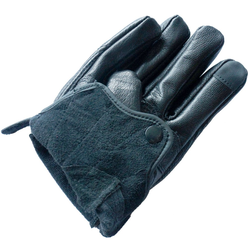 Perforated, XXL Full finger Goat Skin Leather Touch Screen Motorcycle Gloves Men//Women S,M,L,XL,XXL