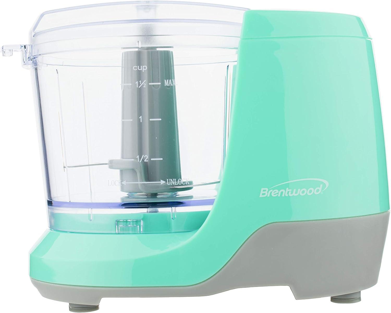 Brentwood MC-109BL Appliances 1.5-Cup Mini Food Chopper (Blue)