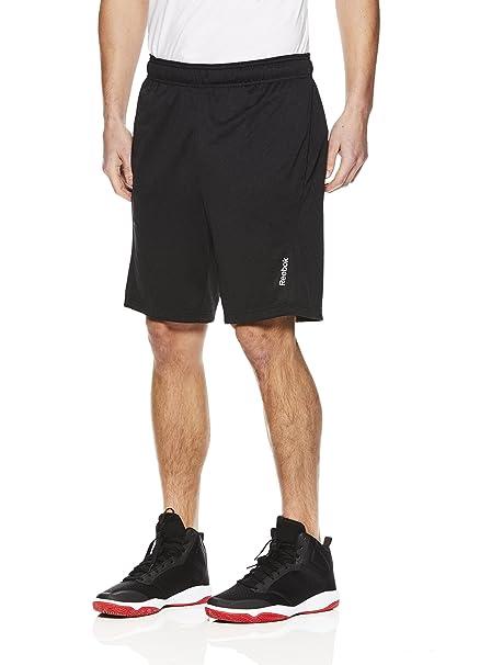 54b869adabd Reebok Men s Drawstring Shorts - Athletic Running   Workout Short - Black  Shadow Fireball