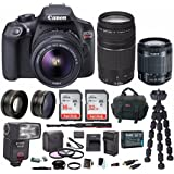 Canon EOS Rebel T6 DSLR Camera w/ 18-55mm & EF 75-300mm Lenses & Zoom TTL Flash Gun & 48GB Supreme Bundle