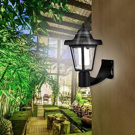 Wosume LED - Lámpara de Pared, luz, Exterior, para balcón, Patio, jardín: Amazon.es: Hogar