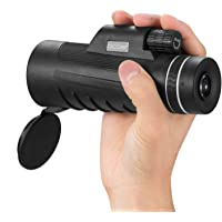 Occer 10X42 High Power Monocular Telescope HD Dual Focus Scope, Waterproof Compact Monocular with BAK4 Multi-Coated Zoom Lens, Low Night Vision
