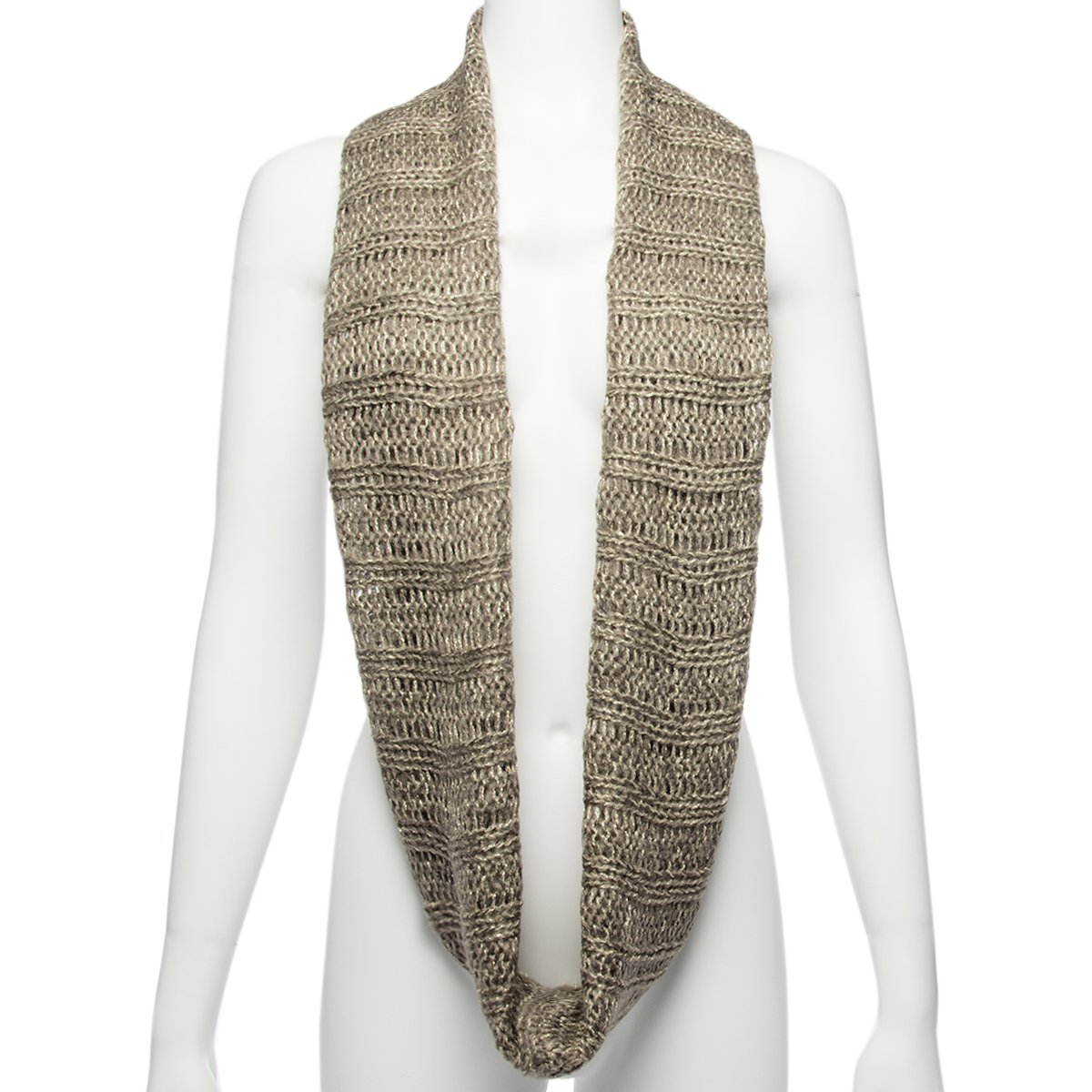 b6aab191b7bb9 The Royal Standard Infinity Scarf Cute Winter Scarf For Women Warm  Lightweight Wrap Metallic Loose Knit at Amazon Women's Clothing store: