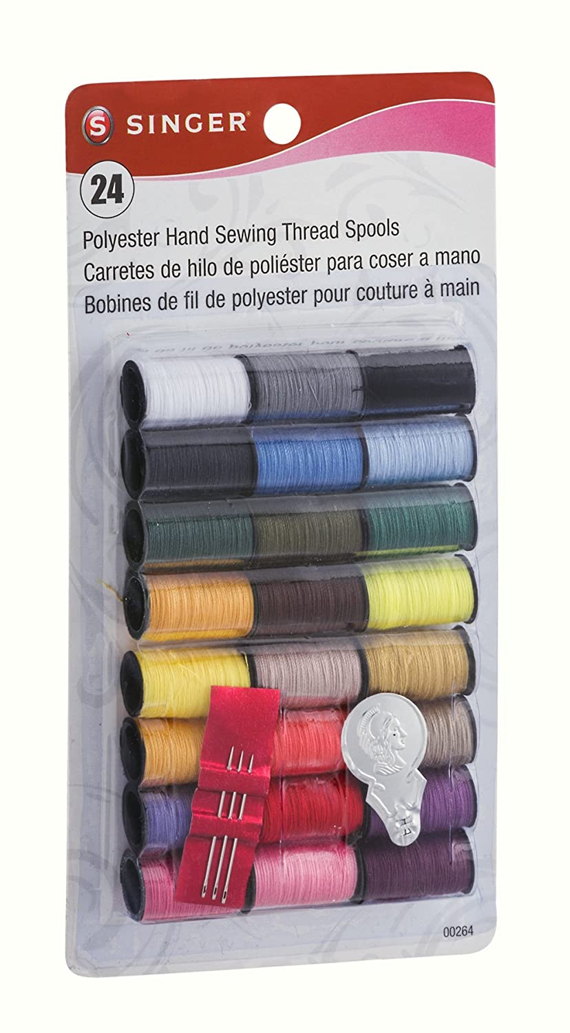 Singer 00264 Assorted Colors 100% Spun Polyester Thread 24 Count: Amazon.com: Grocery & Gourmet Food