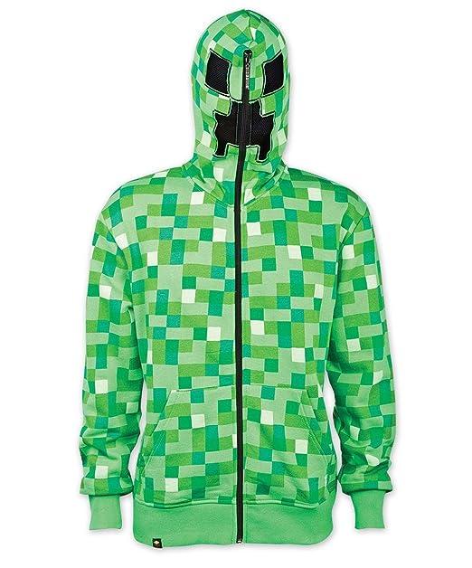 Minecraft Capucha Chaqueta Creeper con Alloverprint en Verde XL: Amazon.es: Ropa y accesorios
