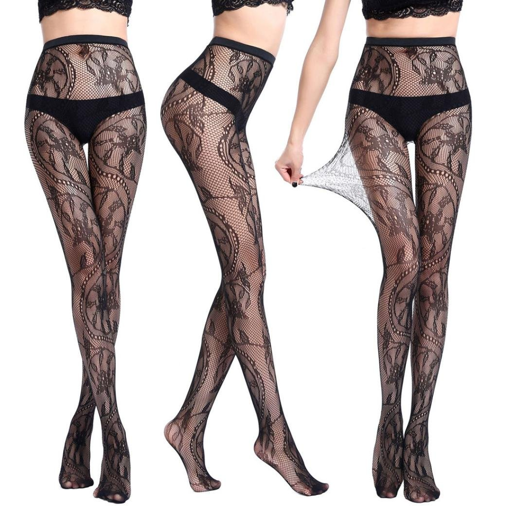 Lingerie, Women Sexy Fishnet Tights Jacquard Pantyhose Stockings For Black Friday (F)
