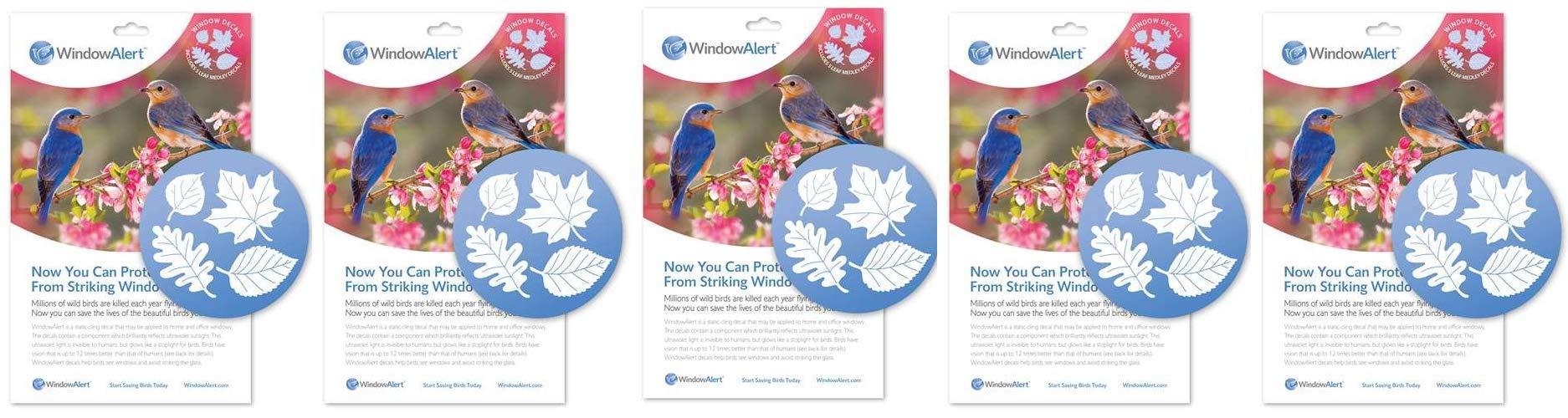 Window Alert Leaf Medley Decals (5-Pack)