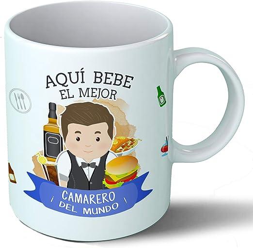 Planetacase Taza Desayuno Aquí Bebe el Mejor Camarero del Mundo ...