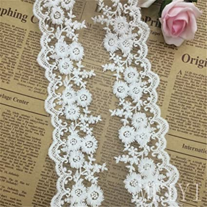 5 Yards Tassel Lace Edge Trim Ribbon 1.8 cm Width Vintage Style Off White Edging Trimmings Fabric Embroidered Applique Sewing Craft Wedding Bridal Dress Embellishment DIY Decor Clothes Embroidery