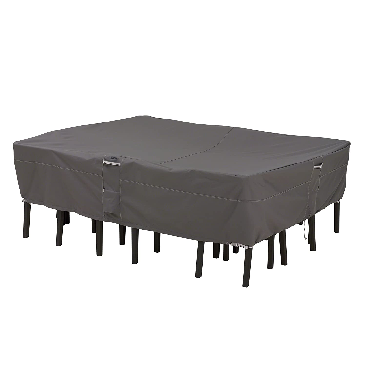 covers for patio furniture. Amazon.com : Classic Accessories Ravenna Rectangular/Oval Patio Table \u0026 Chair Set Cover - Premium Outdoor Furniture With Durable And Water Resistant Covers For