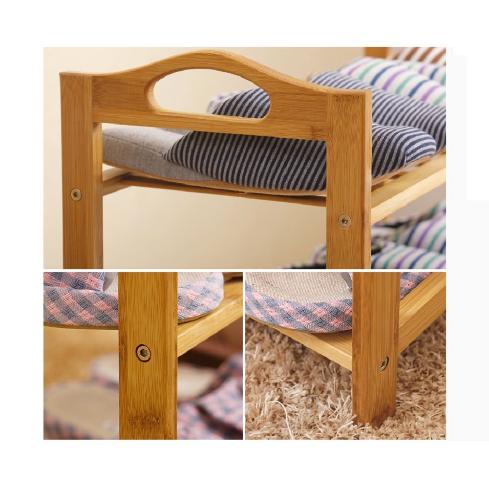 Bamboo shoe rack,100% solid wood ,Flower stand, Bookshelf,Function assemble,Entryway shelf Stand shelves Stackable Entryway bedroom-D 50x25x87cm(20x10x34inch) by franchise house (Image #7)
