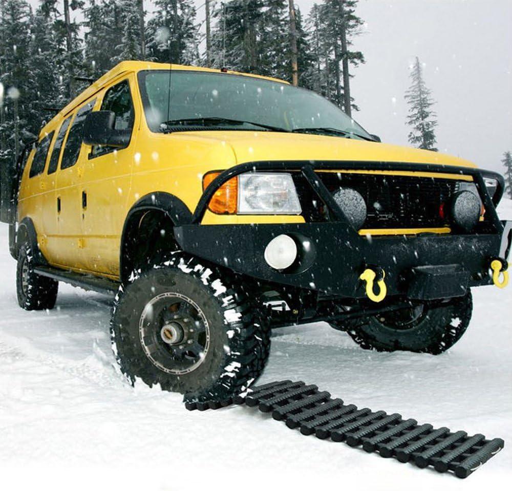 /Frei von Offroad schlamm Schnee Notfall Reifen Traktion Hilfe Matte Eis und Sand/ / sand Leiter/ /2/Pack/ wetterbest/ändigem zusammenklappbar /& tragbar L/üftungshalterung Track Grip Hilfe Pad