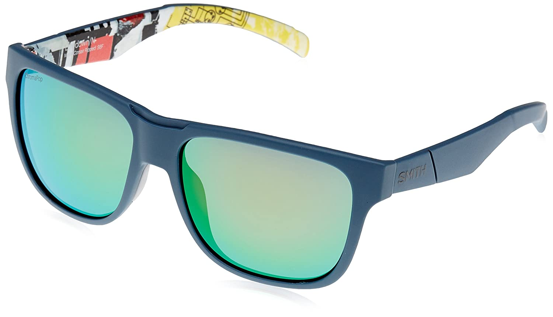Smith Lowdown/N X8 S6F 56, Gafas de sol para Hombre, Azul (Bluette Pattern/Green Marl Cp),