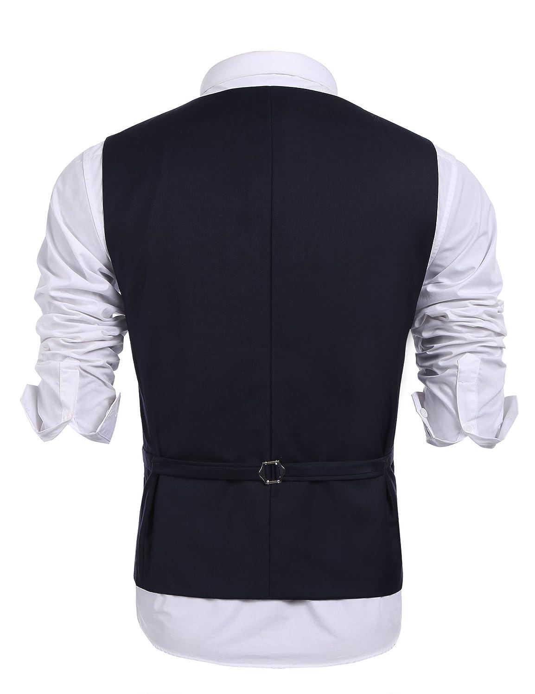 COOFANDY Mens Slim Fit Sequins Vest V-Neck Shiny Party Dress Suit Stylish Vest Waistcoat 26VESTS