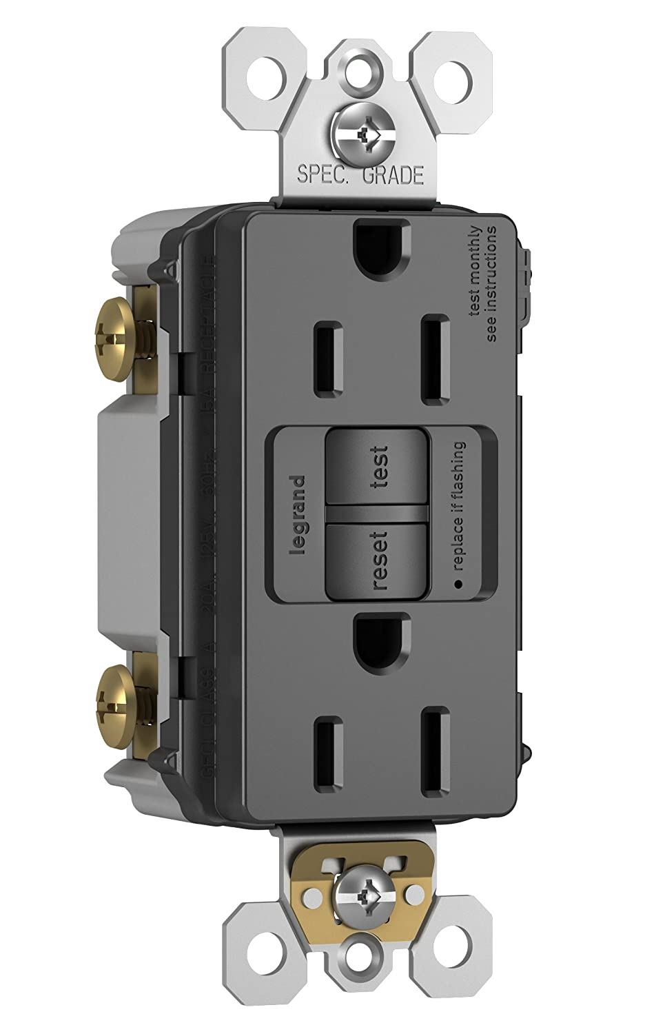 Legrand Pass Seymour Radiant 2097bkccd12 15 Amp Self Test Gfci Ivory Electrical Outlets Light Switches 15a Gfi Outlet Black