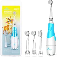 Baby Electric Toothbrush, Toddler Teeth Brushes with Smart LED Timer and Sonic Technology for Infants Ages 0-3 Years…