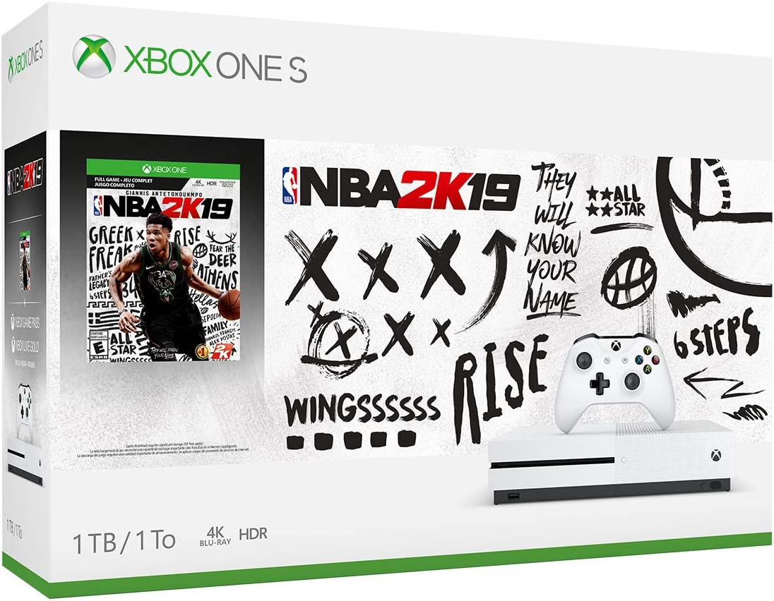 Amazon com: Xbox One S 1TB Console - NBA 2K19 Bundle (Discontinued