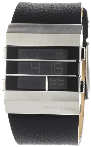 Diesel DZ7069 - Reloj de caballero de cuarzo, correa de piel color negro: Amazon.es: Relojes