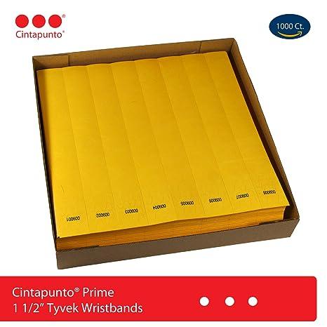 Cintapunto® Prime - Pulseras de Tyvek - lote de 1000 u. - Pulseras para
