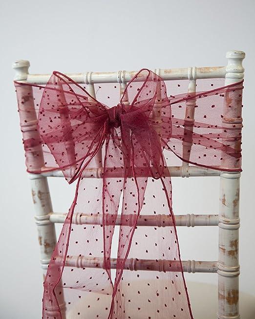 998feab1b06a Fiocco decorativo Kimmy Dot, in organza, fascia decorativa per sedie,  ideale per matrimoni e decorazioni, 21 colori 20 x 275cm Baby Pink:  Amazon.it: Casa e ...