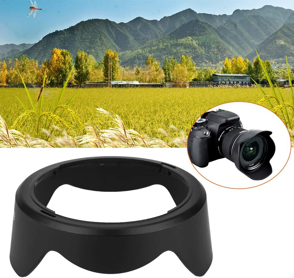 Bewinner Camera Lens Hood,EW-73C Camera Mount Lens Hood for Canon EF-S 10-18mm f4.5-5.6 is STM Lens,Mounted on The Camera Firmly and Stably