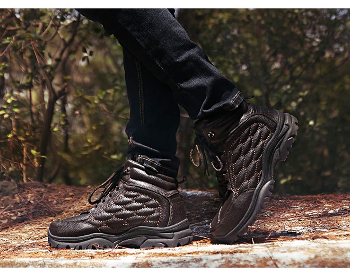 Adong Herren-Wanderschuhe Leder Wasserdichte für Schuhe Niedrig-Top-Shosten Leichtbauschuhe für Wasserdichte Herbst und Winter,B,41EU 5622fd