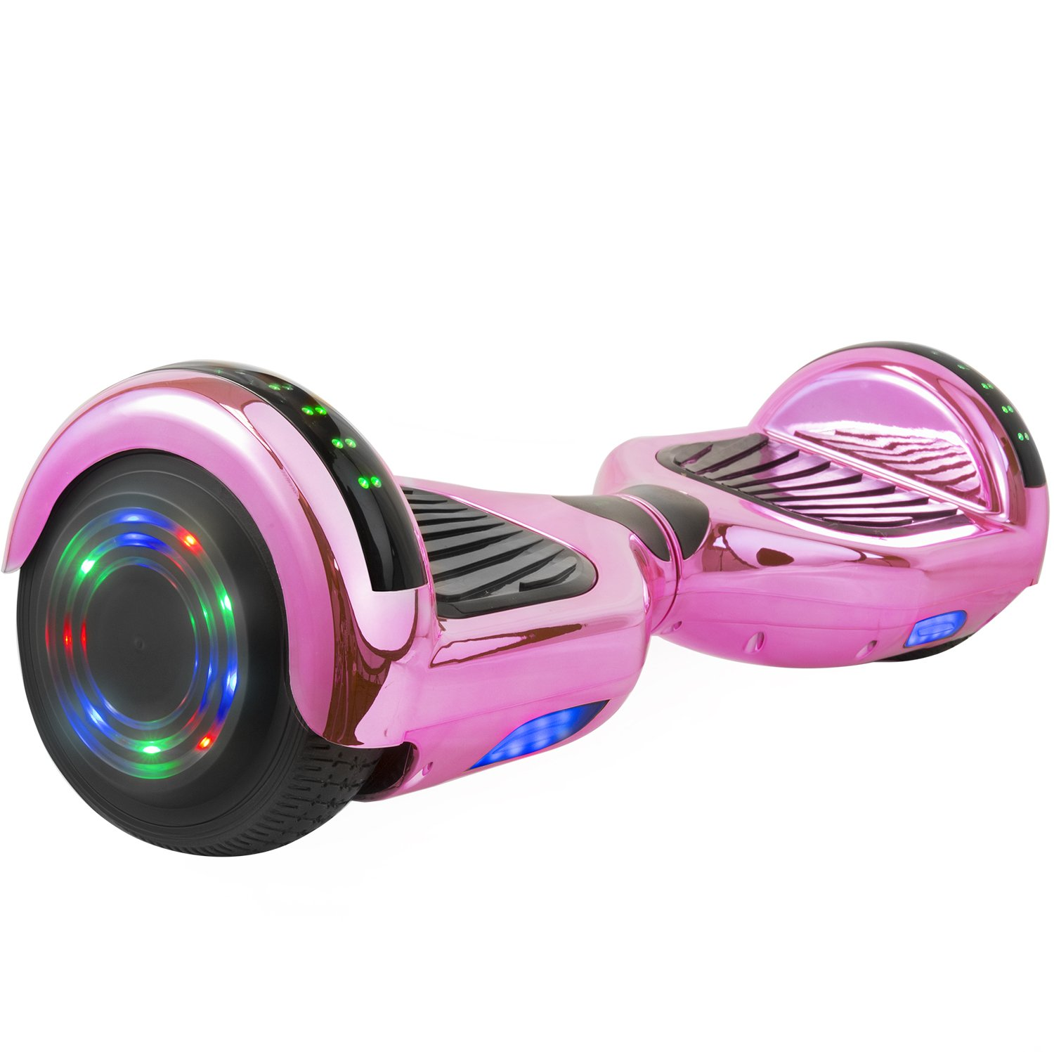 OTTO Hoverboard UL Certified C1 Plus Smart Electric Self Balancing Scooter with LED Lights Flash Light Wheels and Bluetooth Speaker Dual 250W Motors 220LB Max Loaded(6.5'',Pink)
