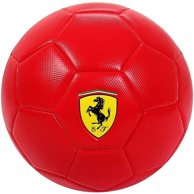 Mesuca Ferrari 024245, balón de PVC Unisex niños, Rojo/Amarillo ...