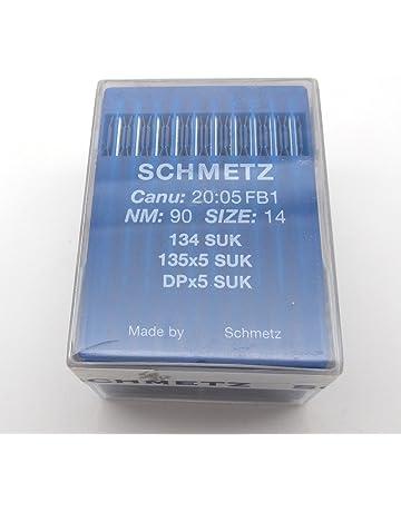 100 Schmetz Agujas de máquina de coser, 135 x 5, 135 x 7 DPX5