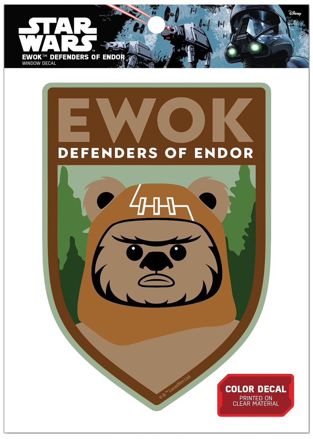 Star Wars FW1155 Ewok Defenders of Endor Vinyl Window Decal